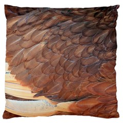 Feather Chicken Close Up Red Large Flano Cushion Case (one Side)