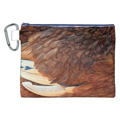 Feather Chicken Close Up Red Canvas Cosmetic Bag (xxl)