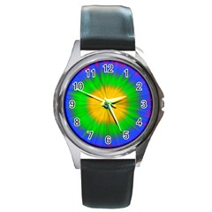 Spot Explosion Star Experiment Round Metal Watch