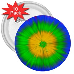 Spot Explosion Star Experiment 3  Buttons (10 Pack)