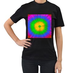 Spot Explosion Star Experiment Women s T Shirt (black) (two Sided)