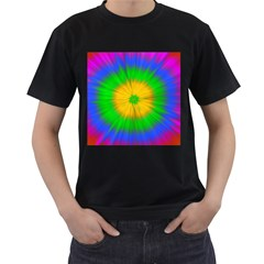 Spot Explosion Star Experiment Men s T Shirt (black)