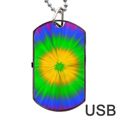 Spot Explosion Star Experiment Dog Tag Usb Flash (one Side)