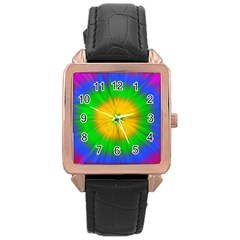 Spot Explosion Star Experiment Rose Gold Leather Watch