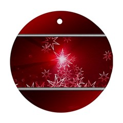 Christmas Candles Christmas Card Ornament (round)