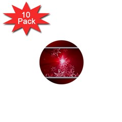 Christmas Candles Christmas Card 1  Mini Buttons (10 Pack)