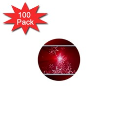 Christmas Candles Christmas Card 1  Mini Buttons (100 Pack)