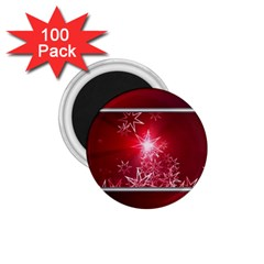 Christmas Candles Christmas Card 1 75  Magnets (100 Pack)
