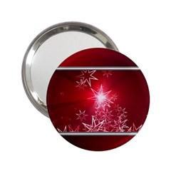 Christmas Candles Christmas Card 2 25  Handbag Mirrors