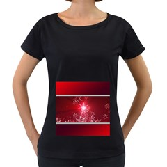 Christmas Candles Christmas Card Women s Loose Fit T Shirt (black)