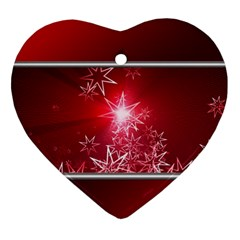 Christmas Candles Christmas Card Heart Ornament (two Sides)