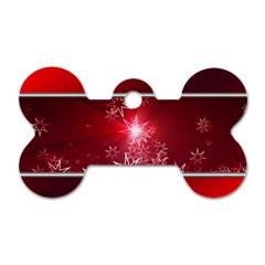 Christmas Candles Christmas Card Dog Tag Bone (two Sides)