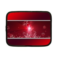 Christmas Candles Christmas Card Netbook Case (small)