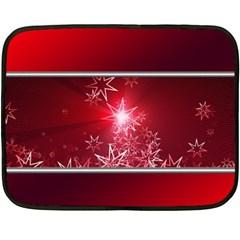 Christmas Candles Christmas Card Double Sided Fleece Blanket (mini)