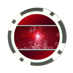 Christmas Candles Christmas Card Poker Chip Card Guard (10 Pack)