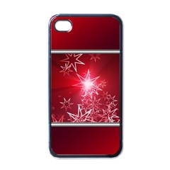 Christmas Candles Christmas Card Apple Iphone 4 Case (black)