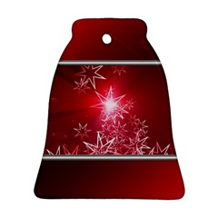 Christmas Candles Christmas Card Bell Ornament (two Sides)