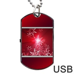 Christmas Candles Christmas Card Dog Tag Usb Flash (one Side)