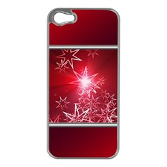 Christmas Candles Christmas Card Apple Iphone 5 Case (silver)