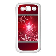 Christmas Candles Christmas Card Samsung Galaxy S3 Back Case (white)