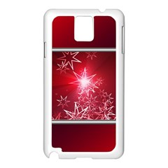 Christmas Candles Christmas Card Samsung Galaxy Note 3 N9005 Case (white)