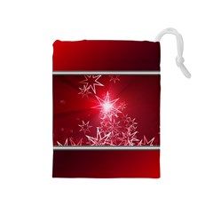 Christmas Candles Christmas Card Drawstring Pouches (medium)