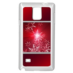 Christmas Candles Christmas Card Samsung Galaxy Note 4 Case (white)