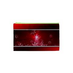 Christmas Candles Christmas Card Cosmetic Bag (xs)