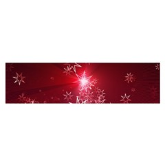 Christmas Candles Christmas Card Satin Scarf (oblong)