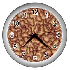 Brain Mass Brain Mass Coils Wall Clocks (silver)