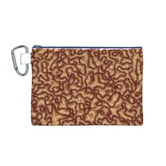 Brain Mass Brain Mass Coils Canvas Cosmetic Bag (m)