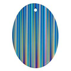 Colorful Color Arrangement Ornament (oval)