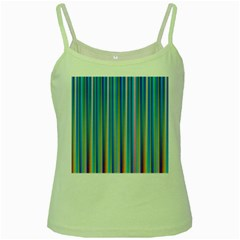 Colorful Color Arrangement Green Spaghetti Tank