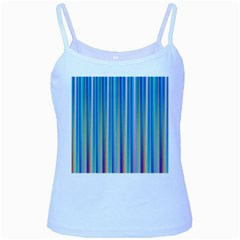 Colorful Color Arrangement Baby Blue Spaghetti Tank