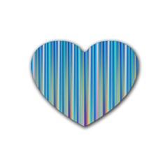 Colorful Color Arrangement Heart Coaster (4 Pack)