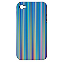 Colorful Color Arrangement Apple Iphone 4/4s Hardshell Case (pc+silicone)