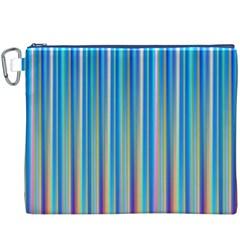 Colorful Color Arrangement Canvas Cosmetic Bag (xxxl)