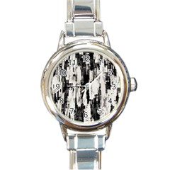 Pattern Structure Background Dirty Round Italian Charm Watch