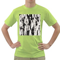 Pattern Structure Background Dirty Green T Shirt