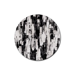 Pattern Structure Background Dirty Rubber Coaster (round)