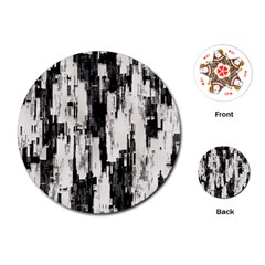Pattern Structure Background Dirty Playing Cards (round)