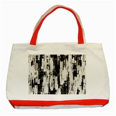 Pattern Structure Background Dirty Classic Tote Bag (red)