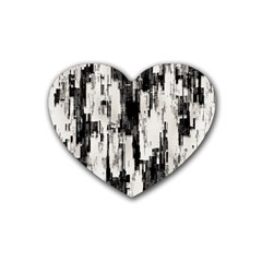 Pattern Structure Background Dirty Rubber Coaster (heart)