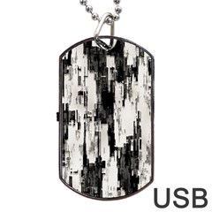 Pattern Structure Background Dirty Dog Tag Usb Flash (one Side)