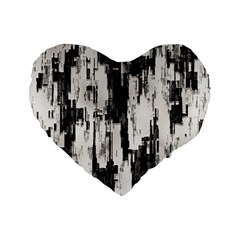 Pattern Structure Background Dirty Standard 16  Premium Flano Heart Shape Cushions
