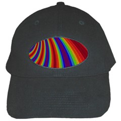 Abstract Pattern Lines Wave Black Cap