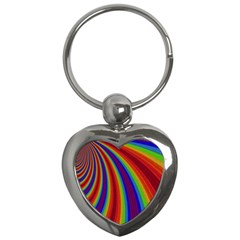 Abstract Pattern Lines Wave Key Chains (heart)
