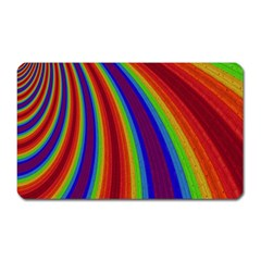 Abstract Pattern Lines Wave Magnet (rectangular)