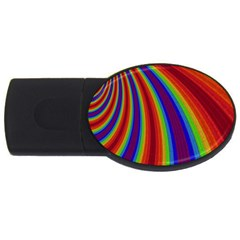 Abstract Pattern Lines Wave Usb Flash Drive Oval (2 Gb)