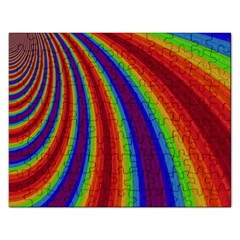 Abstract Pattern Lines Wave Rectangular Jigsaw Puzzl